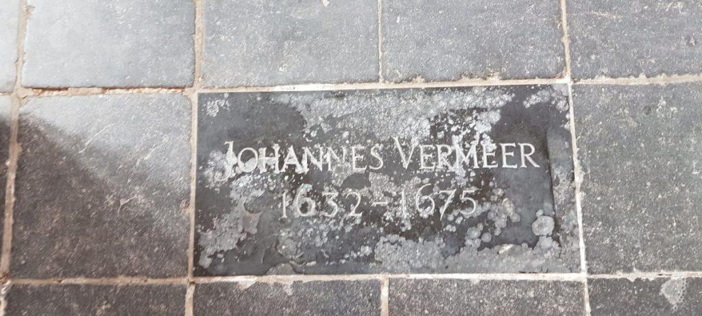 Johannes Vermeer Gedenkstein