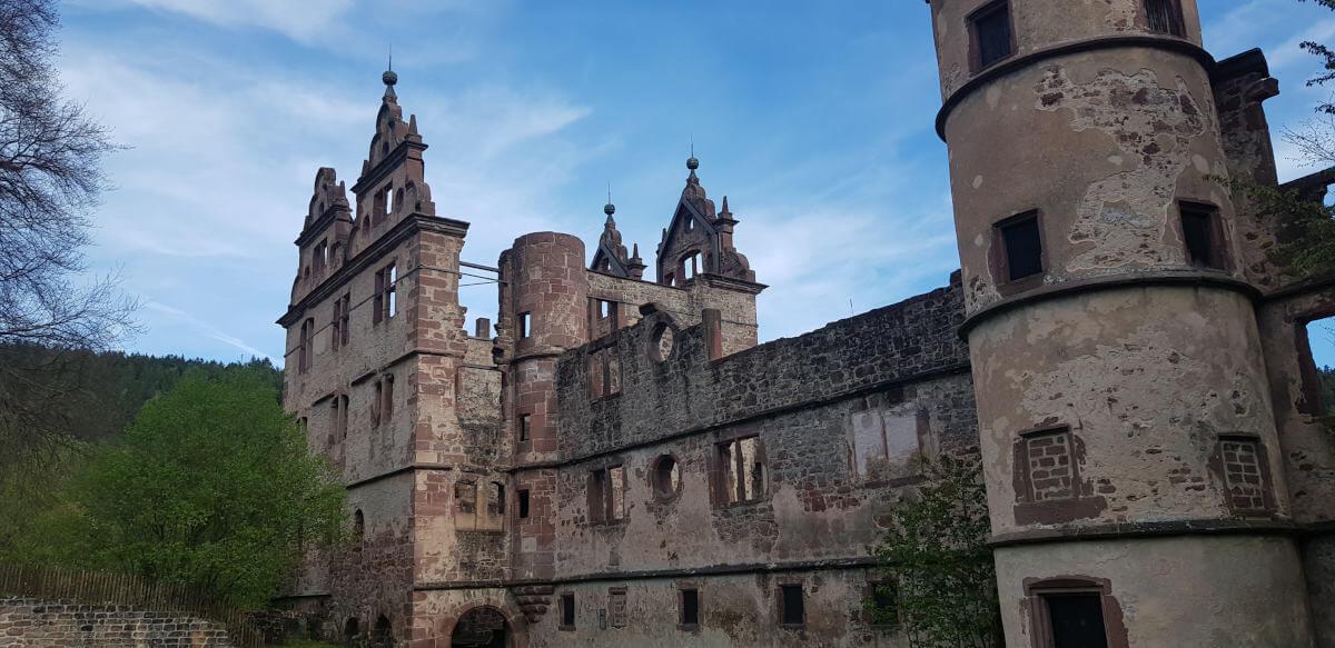 Überreste des Jagdschloss im Kloster Hirsau