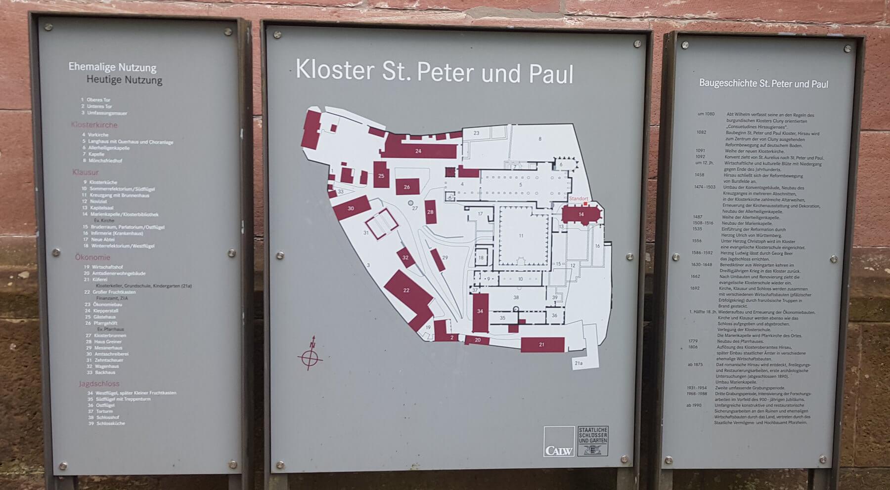 Kloster Hirsau Lageplan und Geschichte im Überblick