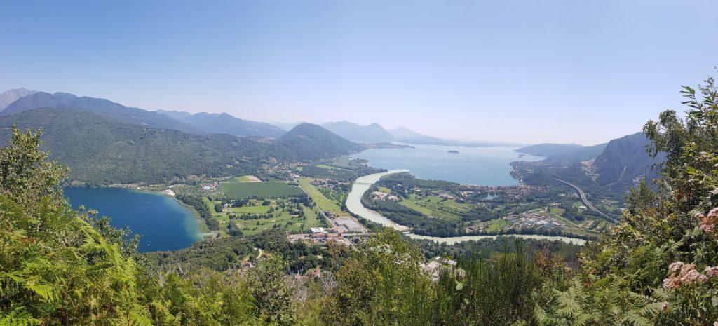 Links der Lago di Mergozzo und rechts der Lago Maggiore
